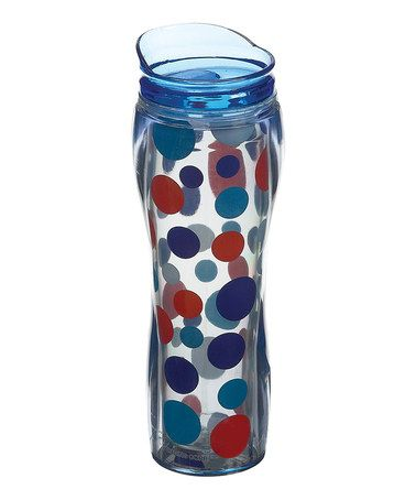 Take a look at this Americana Scatter Dots 14-Oz. Insulated Travel Mug by Boston Warehouse on #zulily today!