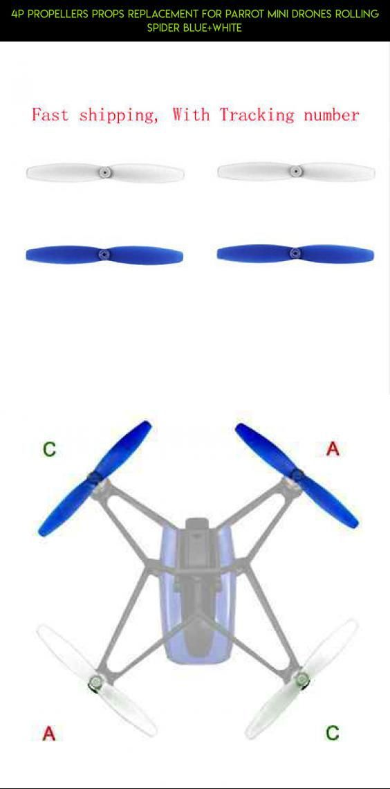 4P Propellers Props Replacement for Parrot Mini drones Rolling Spider Blue+white