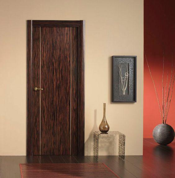 Puerta de interior moderna modelo moderna 7200 ebano for Modelos d puertas