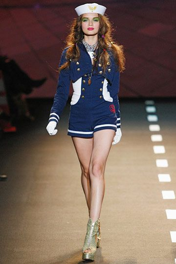 Sailer theme romper and jacket by Betsey Johnson.