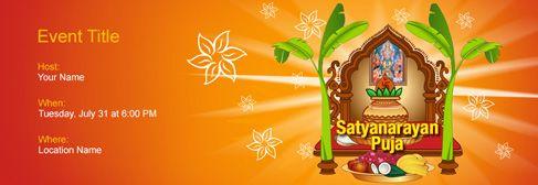 Online Satyanarayan Puja Invitation Online Invitations Invitations Invitation Cards