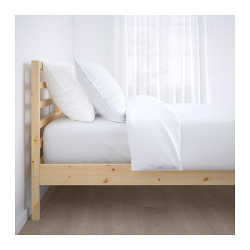 TARVA Bed frame, pine, Luröy, Twin IKEA | Bed frame, Bed