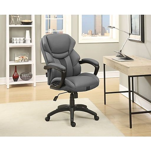 Dormeo Espo Octaspring Faux Leather Managers Office Chair Gray 47055 Staples Chair Home Decor Office Chair
