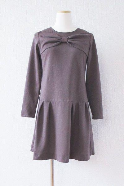 [Free Downloadable] Ginger Ale / Bow Jersey Dress - Tamanegi-kobo