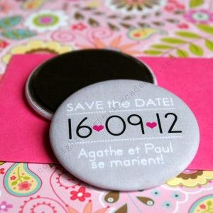 """""""Save The Date"""" Wedding Invitation Magnet"""