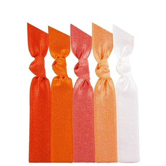 Women's Emi-Jay 'Orange Ombre' Hair Ties ($4.85) ❤ liked on Polyvore featuring accessories, hair accessories, hair, fillers, orange hair accessories, emi jay hair ties, ponytail hair ties and elastic hair ties