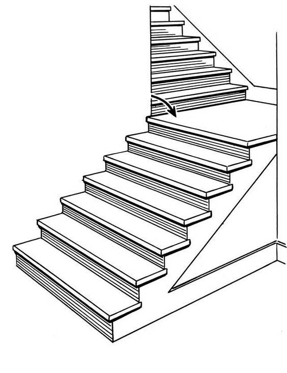 Stairs Coloring Page Deck Railing Http Awoodrailing Com Rail Color Page