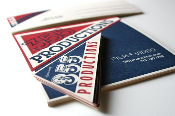 Christiansen Creative branding project for 355 Productions, a video company with an affection towards baseball & the Cubs - hence the colors and pennant style cards.