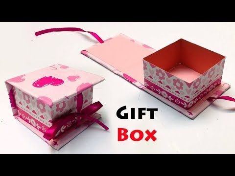 How To Make A Paper Gift Box With Lid Diy Gift Box Ideas Gift Box Making At Home Youtube Diy Gift Box Gift Boxes With Lids Homemade Gift Boxes
