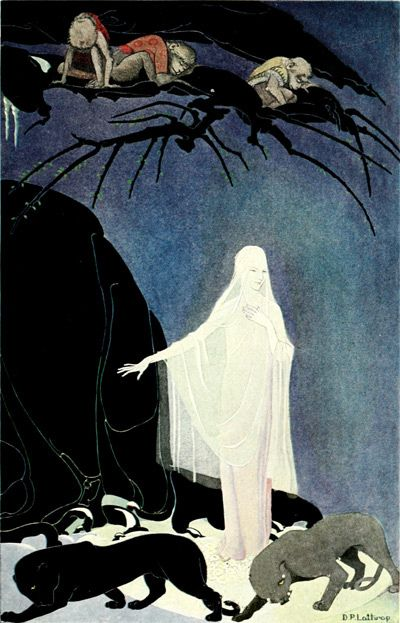THE QUEEN OF THE MOUNTAINS IS IN THE FOREST ... WITH FINGERS OF FROST.  Walter De La Mare- illistrated by Dorothy P. Lathrop
