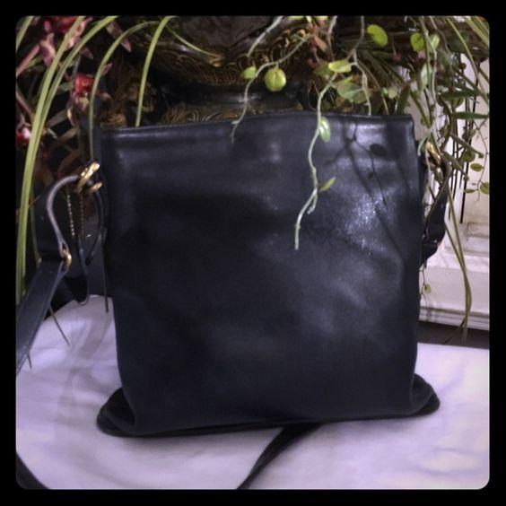 Coach Coach Navy Leather Shoulder Bag. Soft leather. Some wear and tear. Coach Bags Shoulder Bags