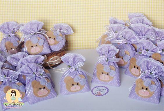 °°Sachês de Ursinhas... - Sonhos de Mel ੴ - Crafts em feltro e tecido