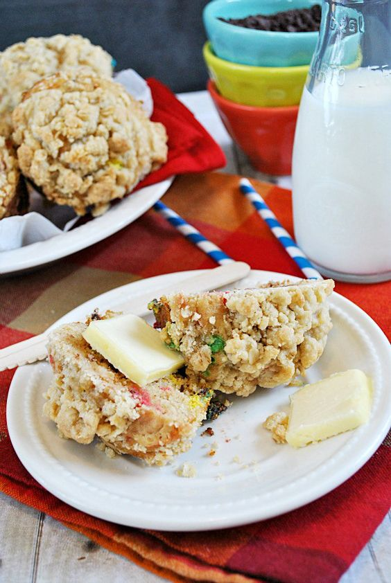 Monster Cookie Muffins | www.somethingswanky.com