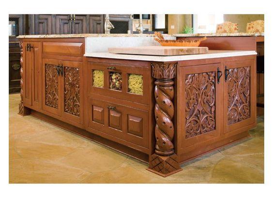 Kitchen islands wood kitchen island and functional kitchen on pinterest - Functional kitchen island with sink ...