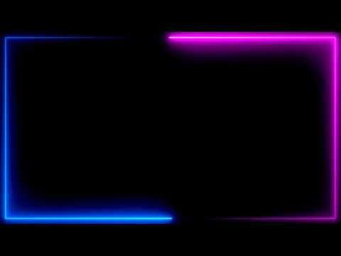 Neon Lighting Frame Glowing Border Neon Frame Hd Background Video Animated Loop Vfx Effe Neon Backgrounds Blue Neon Lights Black Background Wallpaper