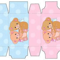 Cajitas Imprimibles de ositos bebés.