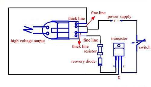 Voltage Booster Circuit With Npn Transistor High Voltage Electric Lighter Tesla Coil