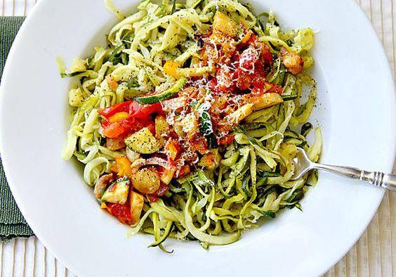 5 idées autour des spaghetti de courgette