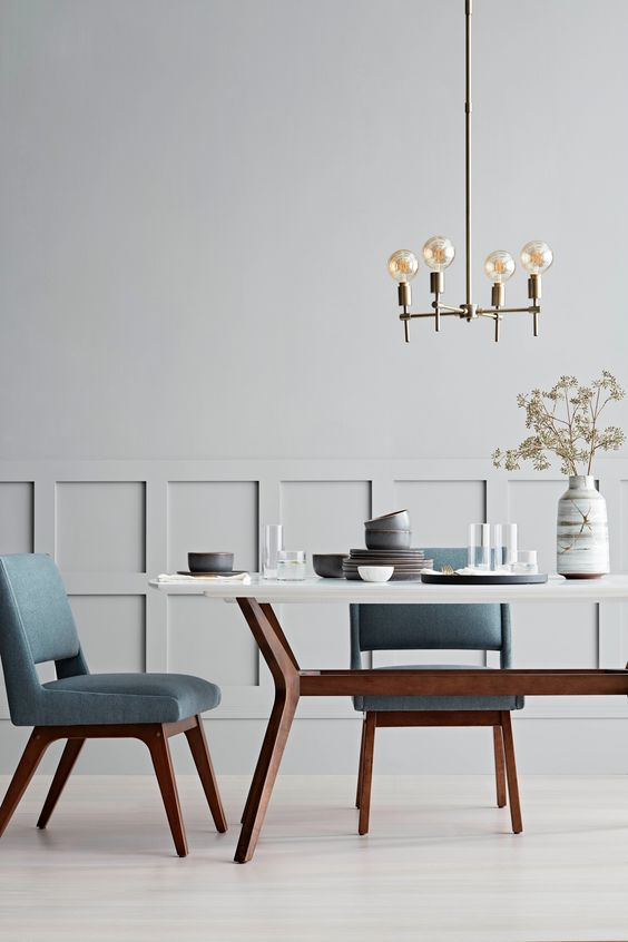 mid-century dining room decor