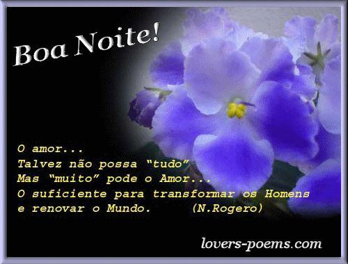 poesia de boa noite - Pesquisa Google