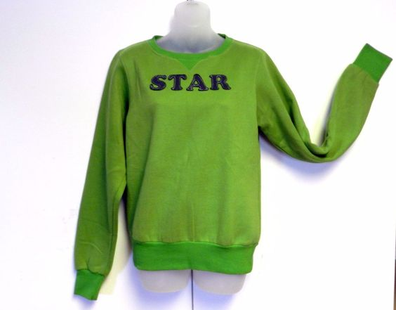 STAR NWT Girls Medium Fluorite Green Sweatshirt  #Star