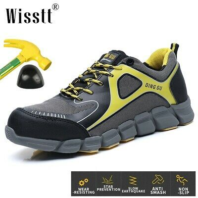 AtreGo Men/'s Safety Steel Toe Work Boots Sports Hiking Shoes High Top
