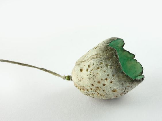 Artisan Ceramic Porcelain Bead Egg Seed Pods by greybirdstudio, £28.00: