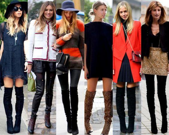 Diz üstü çizmeler nasıl kombinlenir? Skinny Jean pantolon, şortlarla birlikte, mini elbise, etek ve taytlarla en çok tercih sebebi fakat bir de derin yırtmaçlı uzun elbise ve etekle giymenizi tavsiye ederim.