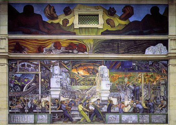 Rivera Court: Detroit Industry or Man and Machine (1933) Wall