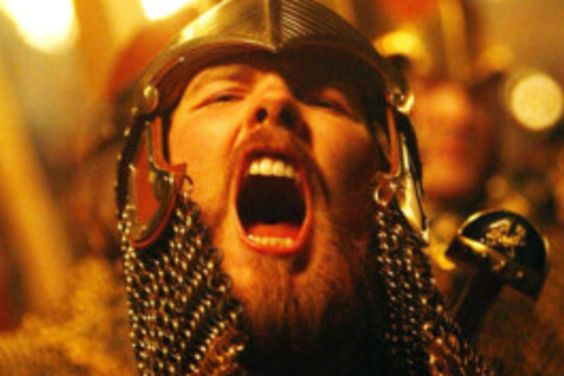 A red-haired 'Viking' at Up Helly Aa. Picture: Getty