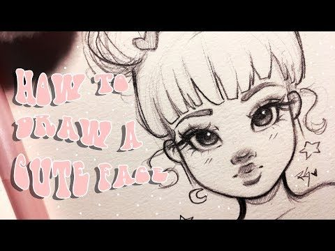 How To Draw A Cute Face Step By Step With Christina Lorre Drawing Tinley Journal In 2020 Christina Lorre Drawings Christina Lorre Drawing Tutorial Face