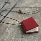 tiny book necklace :)