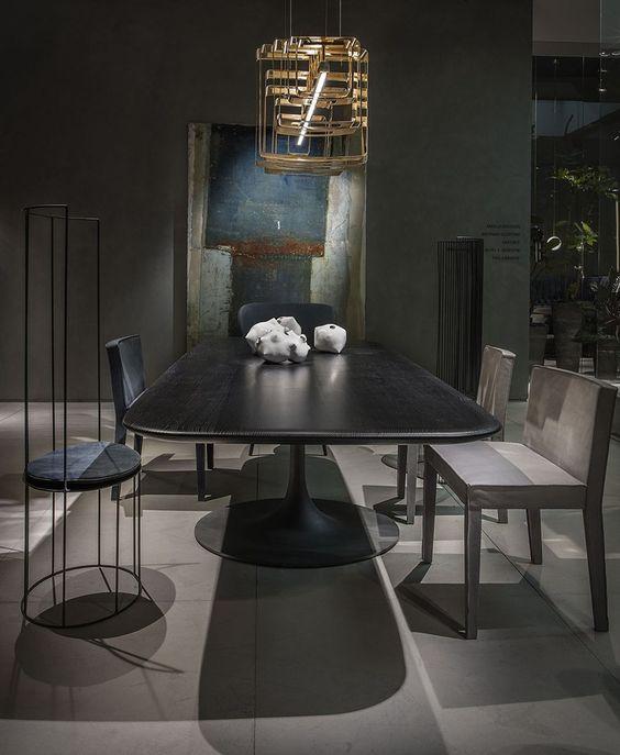High-back metal chair GINESTRA Chair - BAXTER Brass_Iron_Steel - exquisite handgemachte rattan mobel