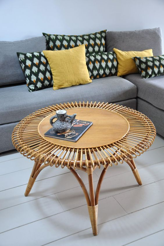rattan coffee table « Summer »
