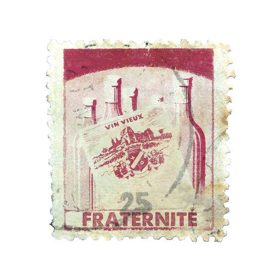 Selo Fraternité da Confraria Vinhos de Bicicleta. Arte de Gabriel Ronconi.