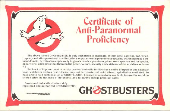 Ghostbusters Fan Club: