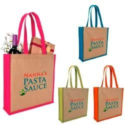 Jute Totes - Great for gifts, corporate events, weddings and more.