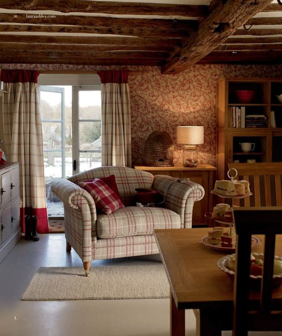 Laura Ashley/ Love the cozy sitting area in the dining room!