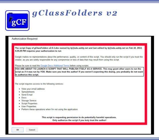 gClassFolders is a free, Google-Spreadsheet-based add-on for Google