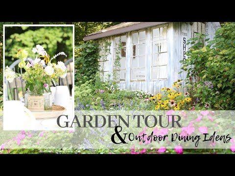 Summer Garden Tour 2019 Outdoor Dining Ideas Garden Party Meal
