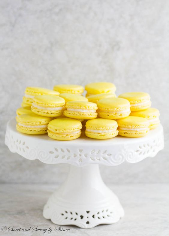 Lemon French Macarons: