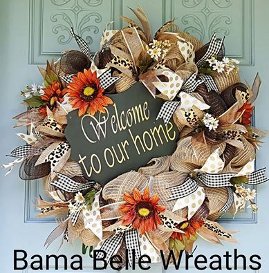 Welcome Wreath-Burlap Wreath-Deco Mesh Wreath-Everyday Wreath- FALL decor…