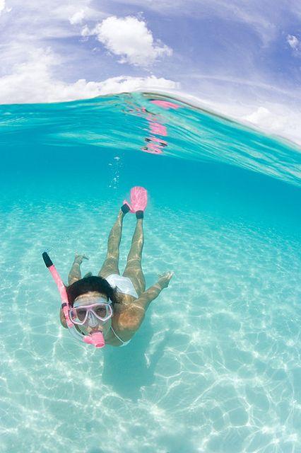 ~Snorkeling The Beautiful Blue!!~       (by *michael sweet*, via Flickr)