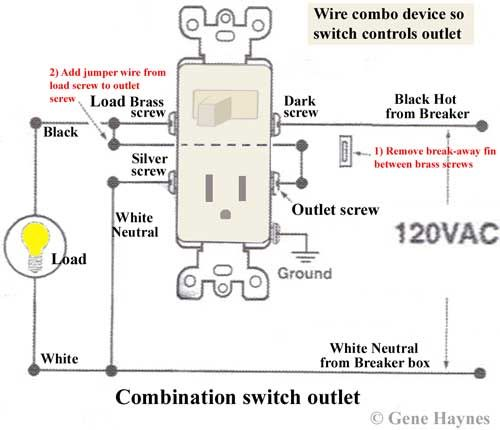 How To Wire Combo Device Wire Switch Outlet Wiring Light