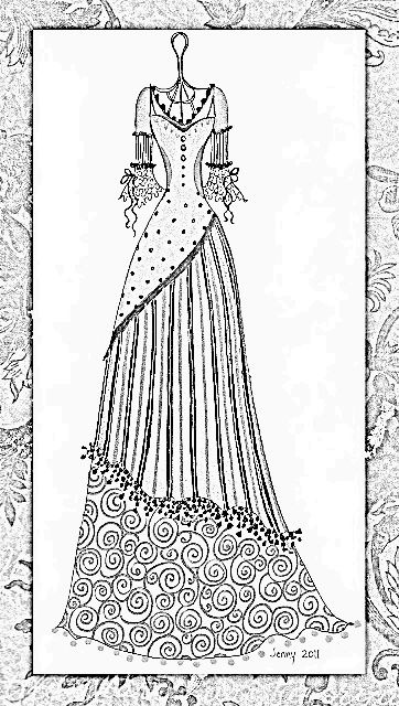 vintage dress coloring pages | Steampunk cosplay, Dress patterns and Vintage dresses on ...
