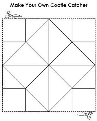 make your own cootie catcher a k a fortune teller super teacher worksheets general. Black Bedroom Furniture Sets. Home Design Ideas