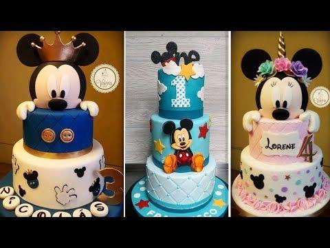 This Video Included All Ideas Of Mickey Mouse Cakes كل الافكارلتزين كيك عشكل ميكي وميني ماوس 3 Youtube Desserts Cake Food