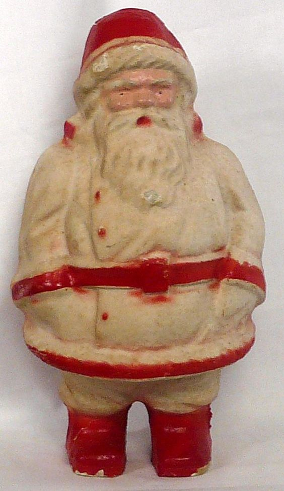 Santa paper mache this is a replica of the santa 9in for Paper mache christmas
