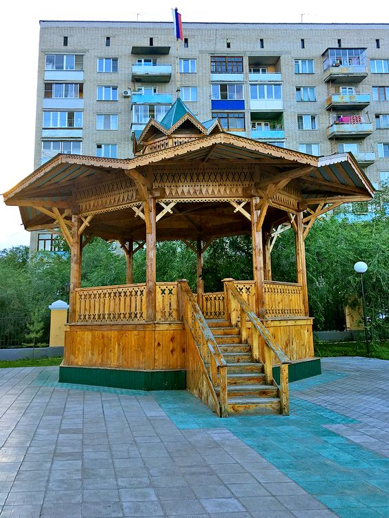Музыкальная беседка - точная копия беседки 1898 года, парк ОДОРА, г. Чита. Фото: Evgenia Shveda