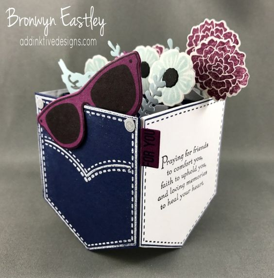 Colour INKspiration Challenges, #addinktivedesigns Beautiful Bouquet, Pocketful of Sunshine, Pocket Box Card